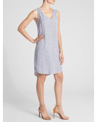 GAP Factory - Sleeveless V-neck Print Shift Dress - Lyst