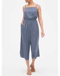 3eea623a2 GAP Factory - Print Square-neck Jumpsuit In Rayon - Lyst