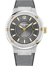 Ferragamo - F-80 Watch Grey/silver - Lyst