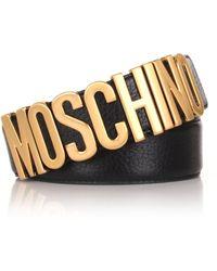 Moschino - Men's Classic Belt Black - Lyst
