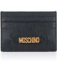 Moschino - Tab Card Holder Black - Lyst