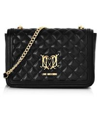 Love Moschino - Quilted Shoulder Bag Black - Lyst