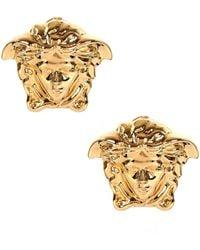 Versace - Large Medusa Head Earrings Gold - Lyst