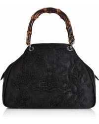 c758aad3be2a Vivienne Westwood - Dolly Medium Yasmine Bag With Bamboo Handles 45020003  Black - Lyst