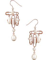 Vivienne Westwood - Jordan Long Earrings Pink Gold - Lyst