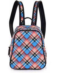 Vivienne Westwood - Shuka Tartan Mini Backpack 43010025 Blue - Lyst