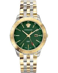 Versace - Univers Watch 43mm Silver/gold/green - Lyst