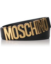 Moschino - Classic Belt Black/gold - Lyst