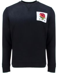 Kent & Curwen | Rose Embroidered 1926 Sweater Grey/black | Lyst