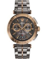 Versace   Aion Chrono 45mm Watch Grey/bronze   Lyst
