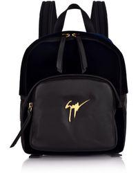 Giuseppe Zanotti - Mini Velour Backpack Navy - Lyst