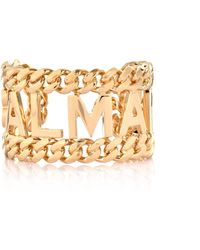 Balmain - Large Chain Cuff Gold - Lyst