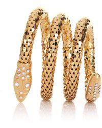 Giuseppe Zanotti - Serpent Wrap Bracelet Gold - Lyst