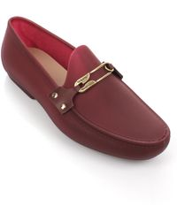 Vivienne Westwood | Safety Pin Moccasins Red | Lyst