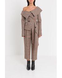 Monse - Asymmetrical Checkered Jacket - Lyst