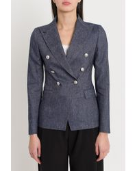 Tagliatore - Blazer J-Alicya In Denim - Lyst