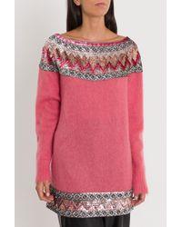 Slash Embellished Ferretti Sequin Sweater Neck Lyst Alberta RfSqx6