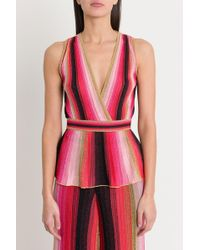 M Missoni - Sleeveless Top With Stretch Waist And Basque Style - Lyst