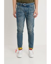 Off-White c/o Virgil Abloh - Bleached Belted Jeans - Lyst