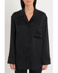 Alexander Wang - All-over Logo Puijama Shirt - Lyst