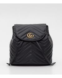 6b4e4d94e34d Lyst - Gucci Matelassé GG Marmont Backpack in Black