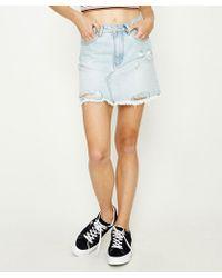 Insight - Sasha A-line Skirt Crushed Blue - Lyst
