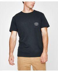 Rhythm - Pocket T-shirt Dusted Charcoal - Lyst