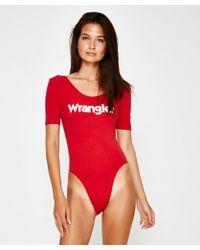Wrangler - Cindy Bodysuit Vint Red - Lyst