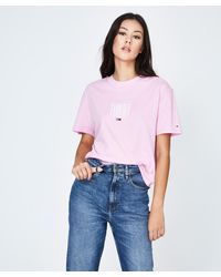 Tommy Hilfiger Tjw Embroidery T-shirt Lilac - Pink