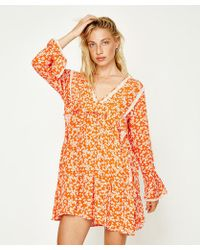 Free People - Like You Best Mini Dress Red - Lyst
