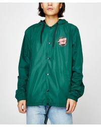 Santa Cruz - Japanese Dot Hooded Windbreaker Green - Lyst