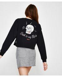 Insight - Dead Air Skirt Black White - Lyst