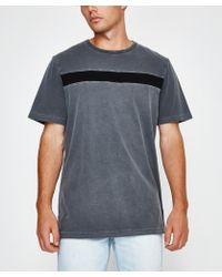 RVCA - Distorted Short Sleeve T-shirt Black - Lyst