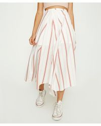 Free People - Hooked On Your Love Midi Skirt - Lyst