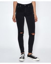 Insight - Billie High Skinny Jean Black Out - Lyst