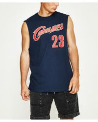 Mitchell & Ness - Name & Number Muscle Tank Cleveland Cavaliers Blue - Lyst