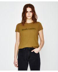 Afends - Standard Fit Short Sleeve T-shirt Moss - Lyst