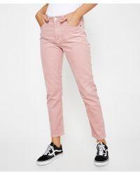 Dr. Denim - Pepper Hazy Pink Cord Pant - Lyst