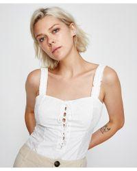Free People - Make Me Up Bodysuit White - Lyst