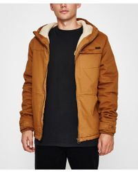 Santa Cruz - Coyote Sherpa Jacket Dark Tan - Lyst
