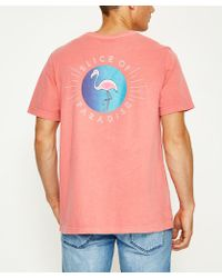 RVCA - Slice Of Paradise Short Sleeve T-shirt Red - Lyst