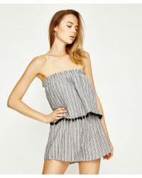 MINKPINK - Pass Time Strapless Playsuit Multi - Lyst