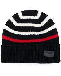 Saint Laurent - Striped Knitted Beanie - Lyst