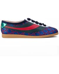 Gucci - Falacer Lurex Gg Sneaker With Web - Lyst