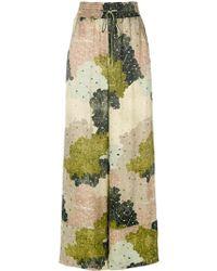 Off-White c/o Virgil Abloh | Floral-print Wide-leg Trousers | Lyst