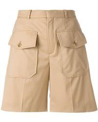 Chloé - Double Flap Pocket Shorts - Lyst