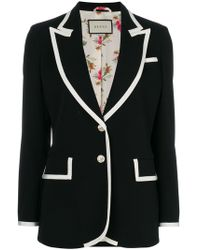 Gucci - Contrast-trim Single Breasted Jacket - Lyst