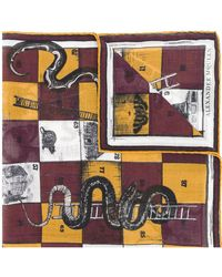Alexander McQueen - Snakes And Ladders Scarf - Lyst