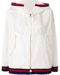 Moncler - Contrast-trim Zipped Jacket - Lyst