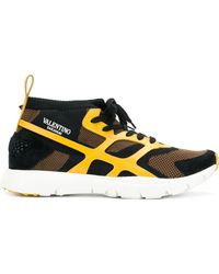 Valentino - Garavani Panelled Sneakers - Lyst